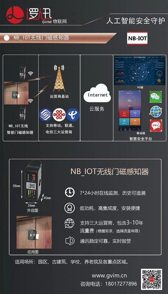 上海逻迅丨门磁感知器 NB-IOT 系统架构方案